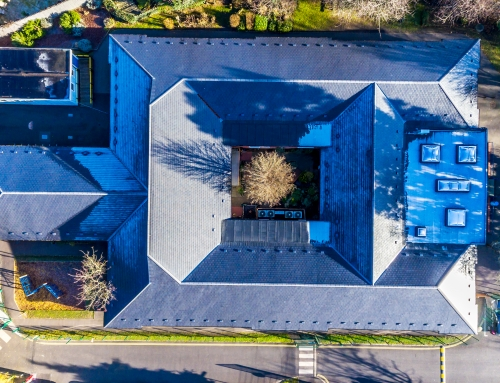 Drone Footage for Re-Roofing Project at School in Slough
